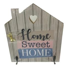 Porta Chaves De Parede Com 2 Ganchos Em MDF Home Sweet Home