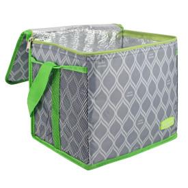 Bolsa Termica Grande Jacki Design 13 Litros Cinza e Verde Jacki Design