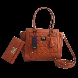 Bolsa feminina com carteira combinando  Fuseco 20044E Caramelo